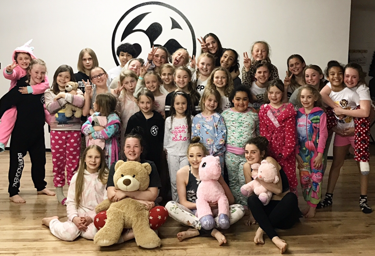 £340 Raised at Bodyrockerz Fundraiser Sleepover!