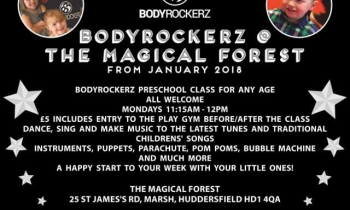 Bodyrockerz preschool class starts January 2018 at the Magical Forest!