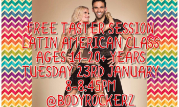 Second and Third of Four Free Sessions for Latin American Dance Tuesday 22ND @Bodyrockerz